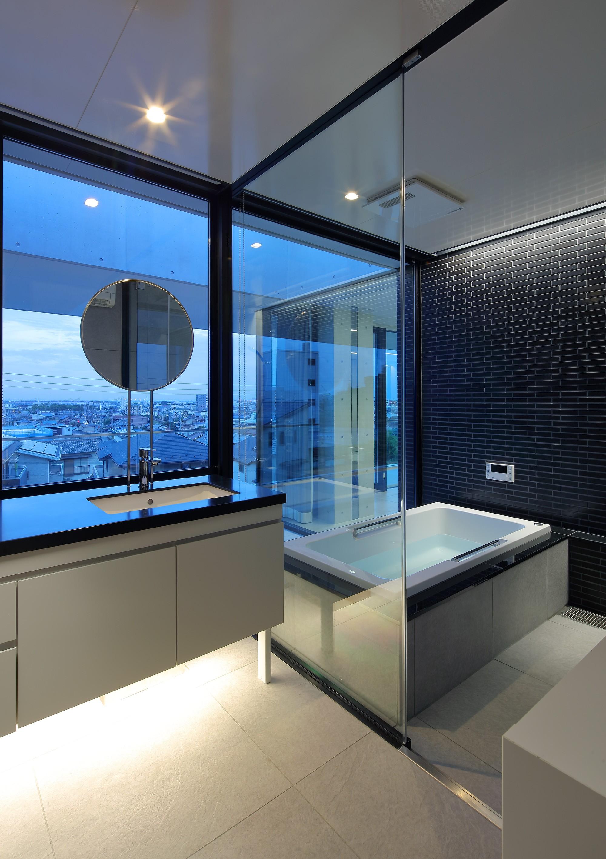 バス/トイレ事例:浴室からの眺め(Le Château dans le ciel 天空の城)