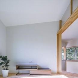 緑豊かな公園に隣接|プライバシーを守りながら開放的に住まう Y字路の家 (和室)