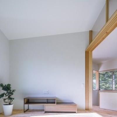 和室 (緑豊かな公園に隣接|プライバシーを守りながら開放的に住まう Y字路の家)