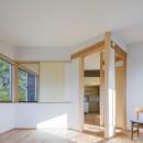 緑豊かな公園に隣接|プライバシーを守りながら開放的に住まう Y字路の家の写真 将来の子供室スペース