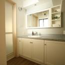Y邸の写真 タイルが可愛い洗面台