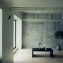 田中亮平 + 許光範の住宅事例「名古屋のアトリエ~マスキング塗装を施した既存コンクリート壁~」