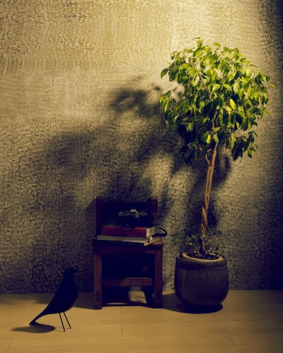アトリエのワンシーン (名古屋のアトリエ~マスキング塗装を施した既存コンクリート壁~)