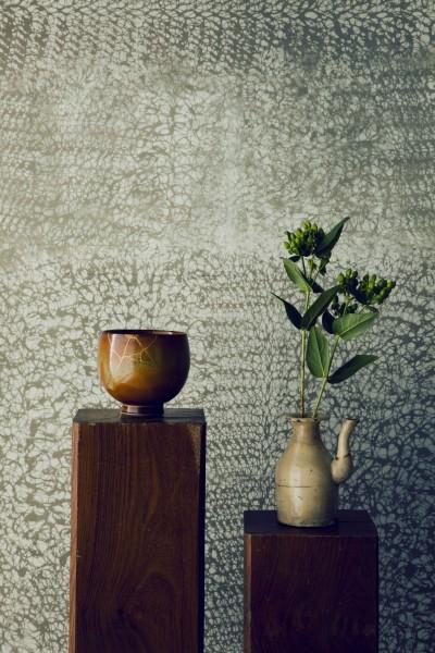 名古屋のアトリエ~マスキング塗装を施した既存コンクリート壁~ (マスキング塗装の壁)