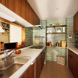 ご実家の素敵な雰囲気を活かして、地方に暮らしながらリノベーション。 (キッチン)