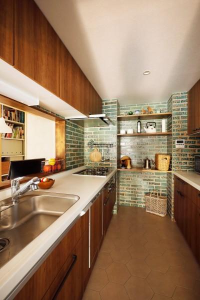 キッチン (ご実家の素敵な雰囲気を活かして、地方に暮らしながらリノベーション。)