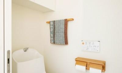 ご実家の素敵な雰囲気を活かして、地方に暮らしながらリノベーション。 (トイレ)