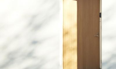 木造町の離れ (玄関扉)