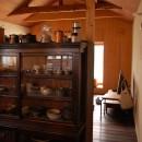 膳所城下の改装の写真 キッチンよりダイニングを見る。