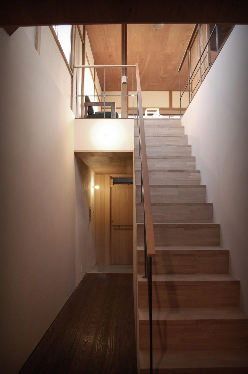 膳所城下の改装 (階段を見る)