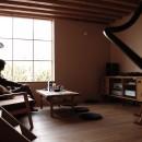加納の家の写真 居間から外を見る。