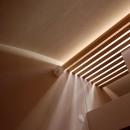 加納の家の写真 トップライトより差し込む光