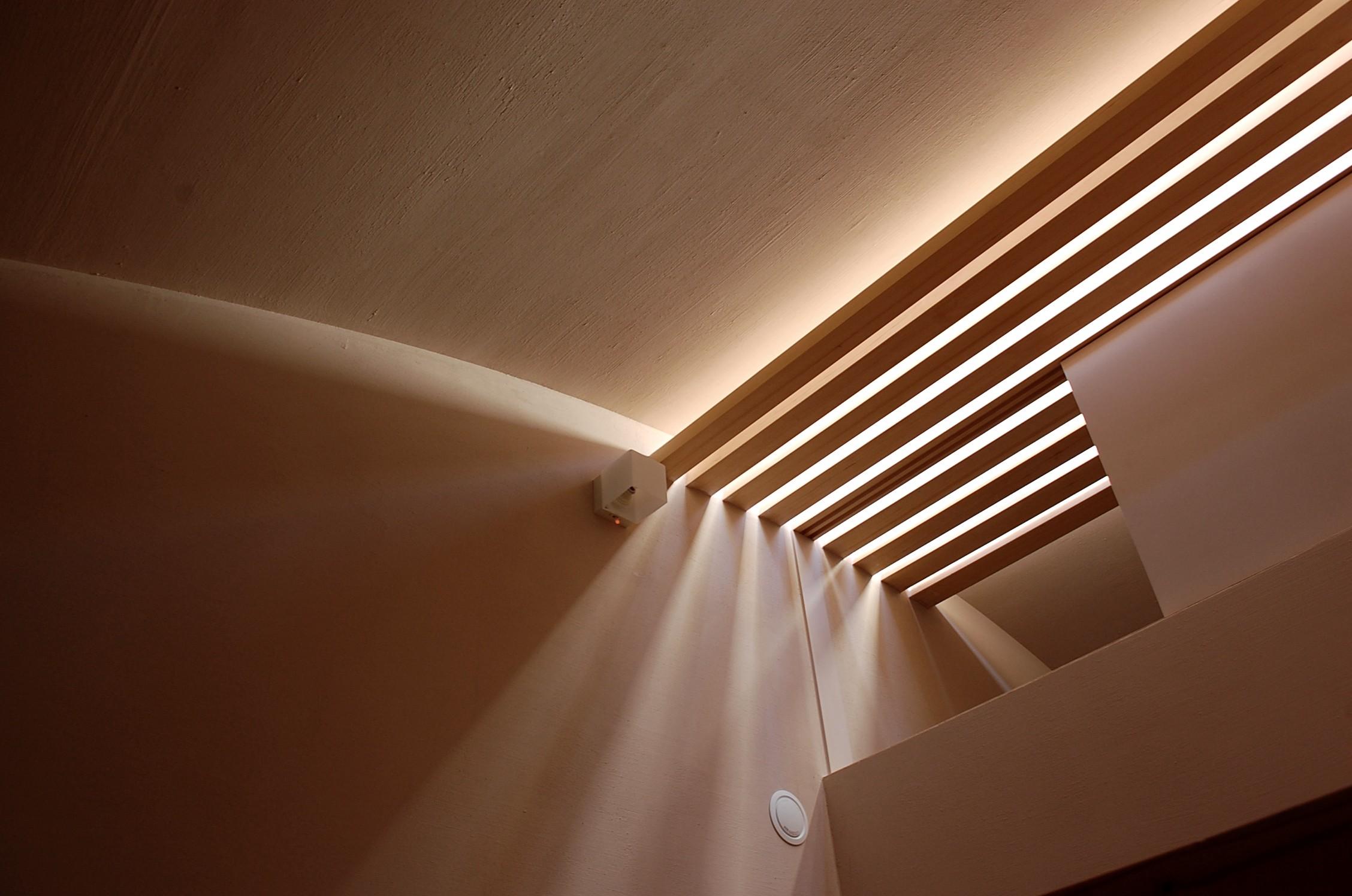 リビングダイニング事例:トップライトより差し込む光(加納の家)