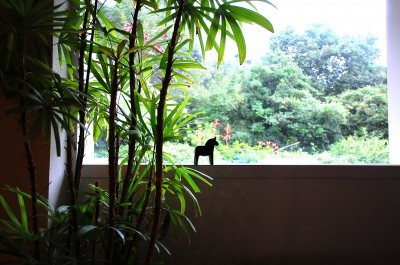鵜沼のアトリエ (窓から見る外空間)