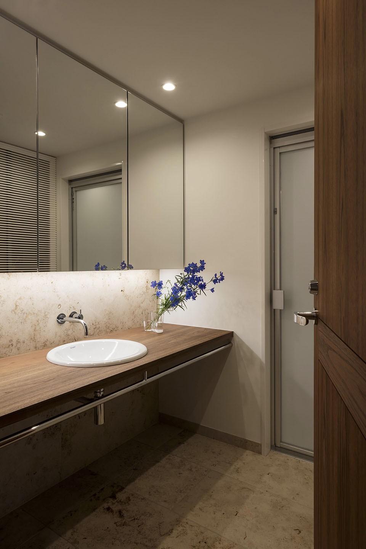 バス/トイレ事例:洗面室(大崎の家)