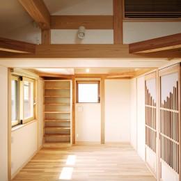 家事が楽な和みの木の家 (無垢のフローリングの個室)