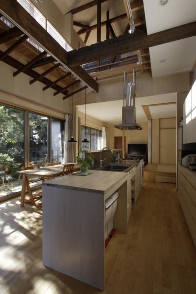 築40年 木造戸建住宅のフルリノベーション (キッチン、ダイニング)