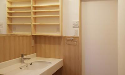 ゼロエネの木の家 (シンプルな洗面室)