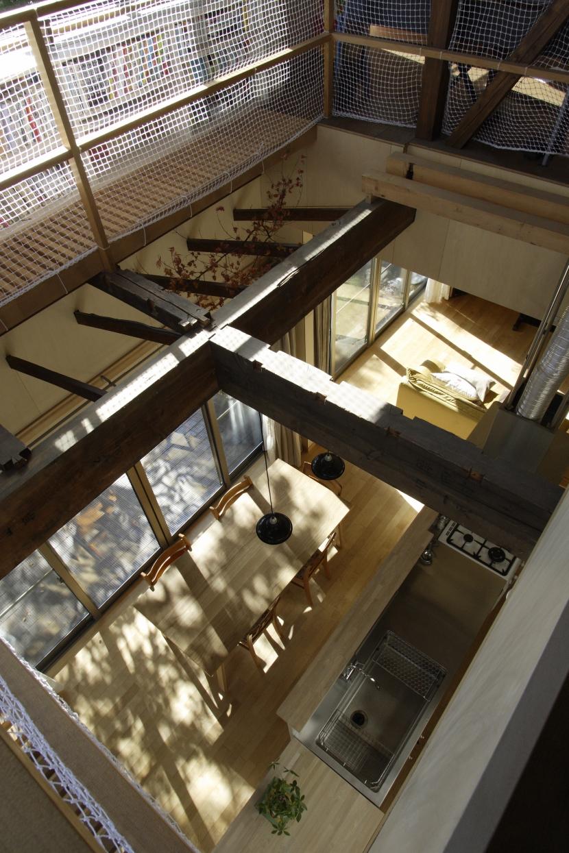 築40年 木造戸建住宅のフルリノベーションの部屋 吹抜け