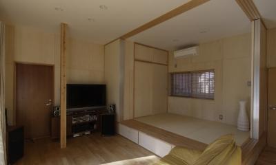 築40年 木造戸建住宅のフルリノベーション (タタミコーナー)