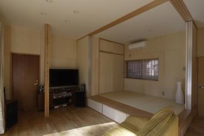 タタミコーナー (築40年 木造戸建住宅のフルリノベーション)