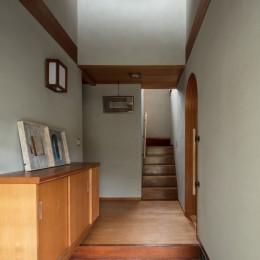 玄関 (愛でる家|数寄屋風戸建て住宅のリノベーション【奈良市】)