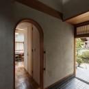 愛でる家|数寄屋風戸建て住宅のリノベーション【奈良市】の写真 玄関