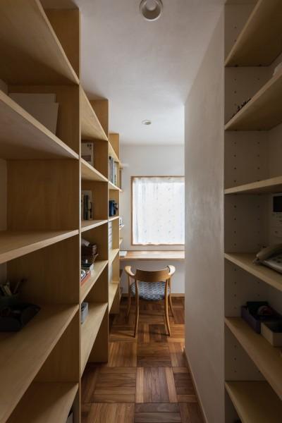 スタディ・コーナー (愛でる家|数寄屋風戸建て住宅のリノベーション【奈良市】)