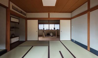 愛でる家|数寄屋風戸建て住宅のリノベーション【奈良市】 (和室)