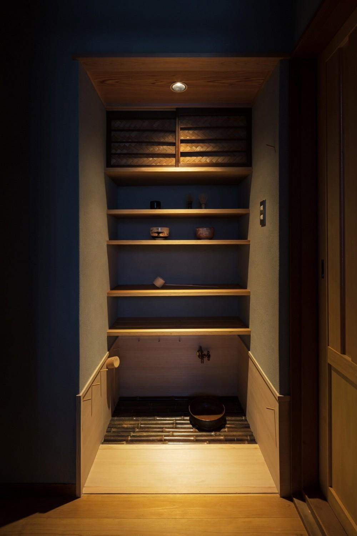 愛でる家|数寄屋風戸建て住宅のリノベーション【奈良市】 (水屋)