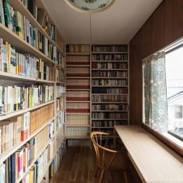 愛でる家|数寄屋風戸建て住宅のリノベーション【奈良市】 (書斎)