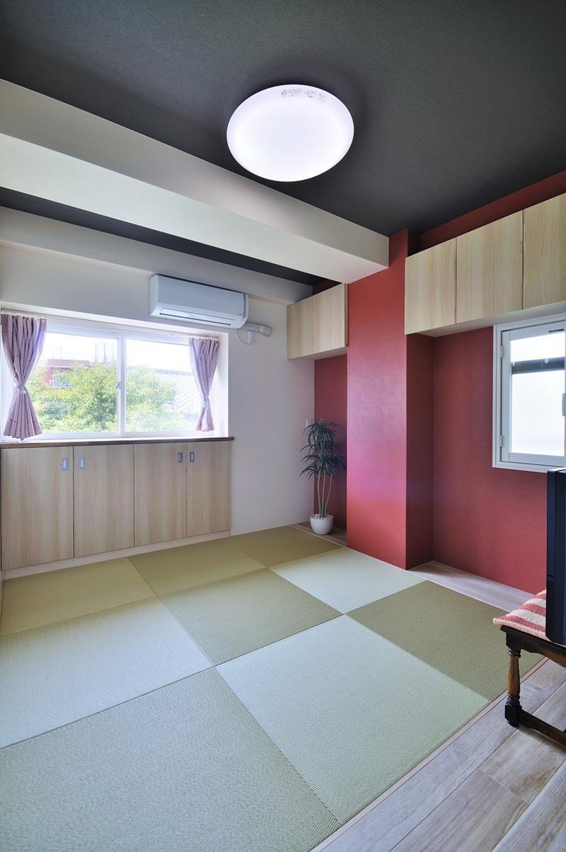 カラフルポップな印象的新居 (和室)