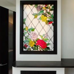 薔薇のステンドグラス