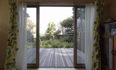 築40年 木造戸建住宅のフルリノベーション (ウッドデッキ)