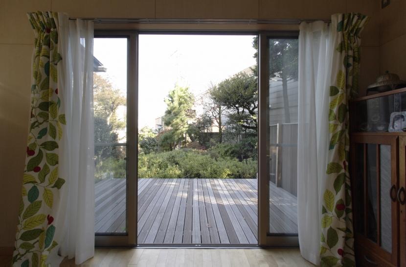 築40年 木造戸建住宅のフルリノベーションの部屋 ウッドデッキ
