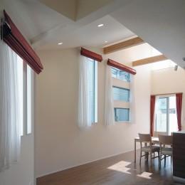 スキップフロア・蔵収納。デザイン住宅 神奈川