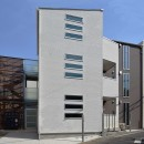 土地有効活用・デザイナーズ3階建て木造共同住宅の写真 オートロックエントランス・外観