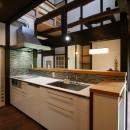 母屋と蔵を改装し三世代古民家への写真 キッチン