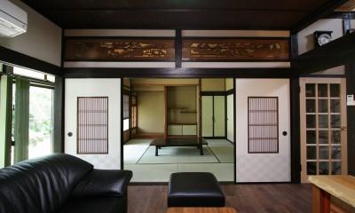 母屋と蔵を改装し三世代古民家へ (リビング)