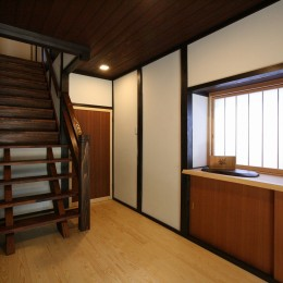 母屋と蔵を改装し三世代古民家へ (玄関)