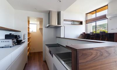 haus-agit/人里離れた眺めの良い場所に佇む爽快なアジト (キッチン)