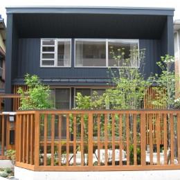 M邸ー終の住処として二つの庭を持つコートハウス (南側外観)