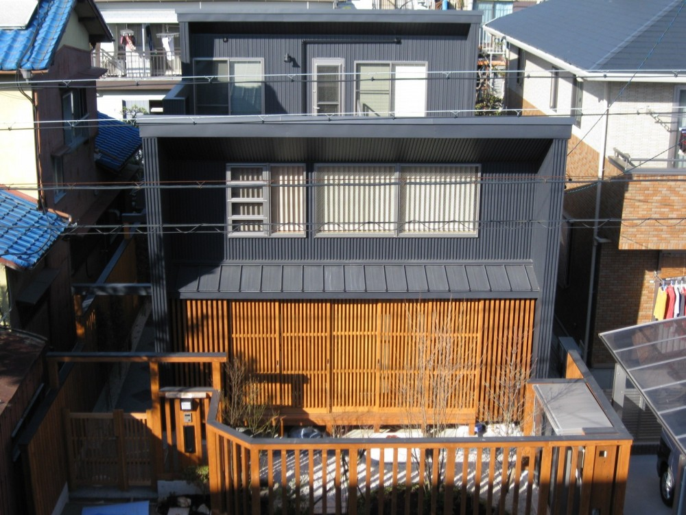 M邸ー終の住処として二つの庭を持つコートハウス (南側鳥瞰)