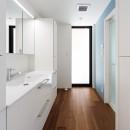 haus-agit/人里離れた眺めの良い場所に佇む爽快なアジトの写真 洗面室