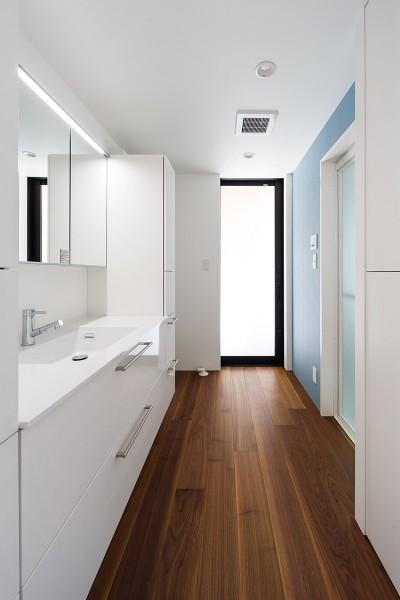 洗面室 (haus-agit/人里離れた眺めの良い場所に佇む爽快なアジト)