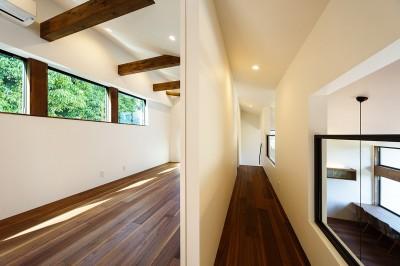 子供室&廊下 (haus-agit/人里離れた眺めの良い場所に佇む爽快なアジト)
