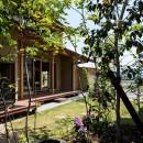 眺望とお庭を楽しむ|火のある暮らしを楽しむ住まい 天理の家の写真 お庭から