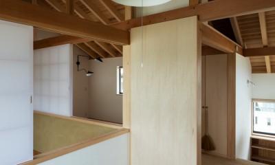 2階:子供室から|眺望とお庭を楽しむ|火のある暮らしを楽しむ住まい 天理の家