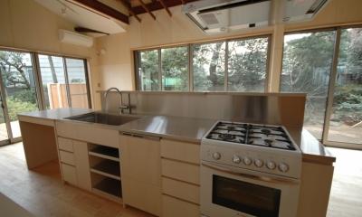 築40年 木造戸建住宅のフルリノベーション (こだわりのキッチン)
