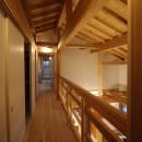伏見の家の写真 2階リビングダイニング吹抜け・廊下